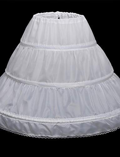 cheap Wedding Slips-Wedding / Party Evening Slips Satin Floor-length Classic & Timeless with Lace-trimmed Bottom / Lace-trimmed bottom / Lace-up