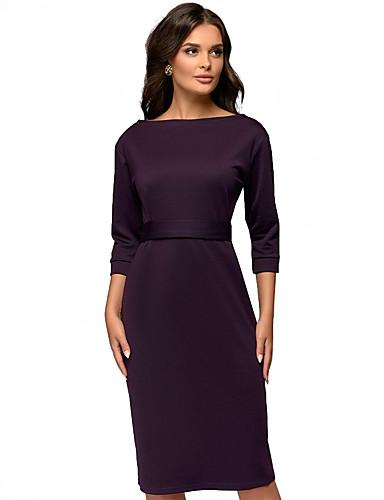 levne Pracovní šaty-Dámské Základní Elegantní Pouzdro Šaty Mašle Patchwork Šňůrky Midi