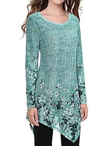 billige T-skjorter til damer-Løstsittende T-skjorte Dame - Ensfarget, Lapper Grå