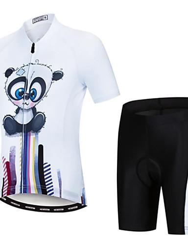 povoljno Odjeća za vožnju biciklom-Dječaci Djevojčice Kratkih rukava Biciklistička majica s kratkim hlačama - Dječji Pink / Black Crno bijela  / Crna / plava Crtani film Bicikl Sportska odijela Prozračnost Ovlaživanje Quick dry