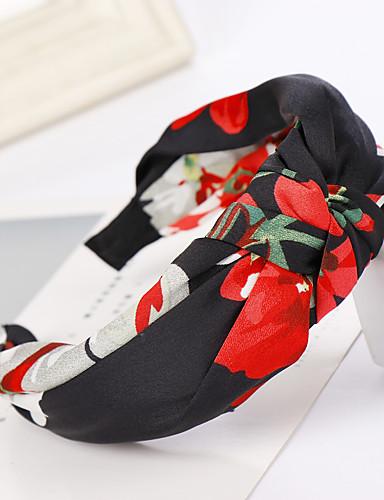 preiswerte Damenbekleidung-Damen Grundlegend nette Art Stoff Lässig / Alltäglich - Blumen / Baumwolle