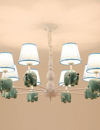 preiswerte ChristmasEarlyBird2019-8 Lichter Kronleuchter / schöne natürliche Lichter für Wohnzimmer Schlafzimmer Kinderzimmer Kindergarten 110-120V / 220-240V / E26 E27 ohne Glühbirne