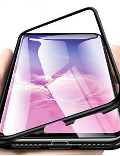 Кейс для Назначение SSamsung Galaxy S9 / S9 Plus / S8 Plus Защита от удара / Ультратонкий / Прозрачный Чехол Однотонный Твердый Закаленное стекло