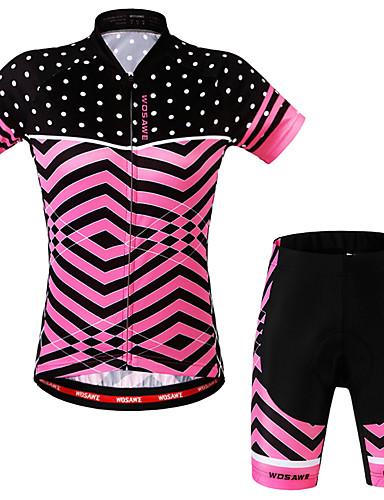 povoljno Odjeća za vožnju biciklom-WOSAWE Žene Kratkih rukava Biciklistička majica s kratkim hlačama Fuksija Veći konfekcijski brojevi Bicikl Kratke hlače Biciklistička majica Sportska odijela Pad 3D Sportski Kuhinjske vage Brdski
