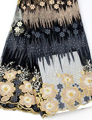 preiswerte Fashion Fabric-Afrikanische Spitze Blumen Muster 130 cm Breite Stoff für Besondere Anlässe verkauft bis zum 5 Yard