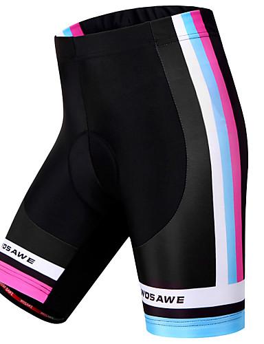 povoljno Odjeća za vožnju biciklom-WOSAWE Žene Biciklističke kratke hlače s jastučićima Bicikl Kratke hlače Podstavljene kratke hlače Hlače Vjetronepropusnost Prozračnost Pad 3D Sportski Dungi Poliester Spandex Crn Brdski biciklizam