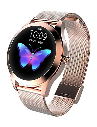 cheap Re11.11-Cool Smartwatches Selling Listing-KW10 Smart Watch BT Fitness Tracker Support Notify/Heart Rate Monitor Sport Stainless Steel Bluetooth Smartwatch Compatible IOS/Android Phones