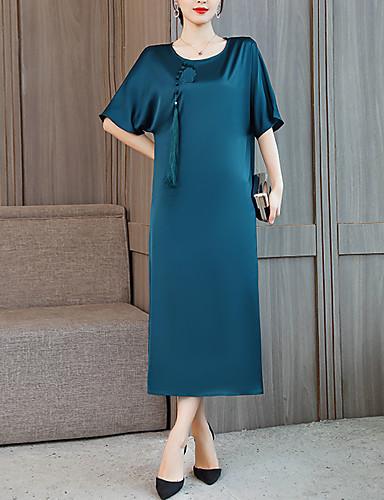 levne Šaty pro slavnostní příležitosti-Pouzdrové Klenot Po kotníky Charmeuse Šaty s Aplikace / Výšivka podle LAN TING Express
