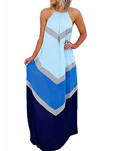 levne Maxi šaty-Dámské Tunika Šaty S proužky Délka ke kolenům