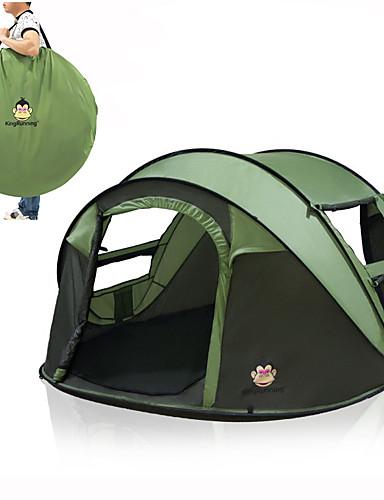 povoljno ljetni popust-3 osobe Pop up šator Vanjski Prijenosno Mala težina Vjetronepropusnost Jednostruki sloj Automatski Dome šator za kampiranje 2000-3000 mm za Lov Ribolov Plaža 200*280*120 cm