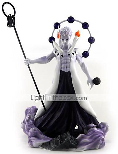 povoljno Maske i kostimi-Anime Akcijske figure Inspirirana Naruto Uchiha Obito PVC 27 cm CM Model Igračke Doll igračkama