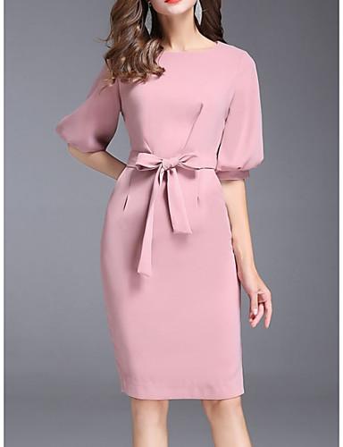 levne Šaty pro slavnostní příležitosti-Pouzdrové Klenot Ke kolenům Polyester Koktejlový večírek Šaty s podle LAN TING Express