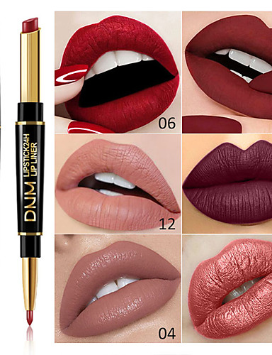 preiswerte Pflege & Haar-marke dnm doppelkopf lippenstift lip liner perle matte lippenstift wasserdicht lang anhaltende lippen make-up