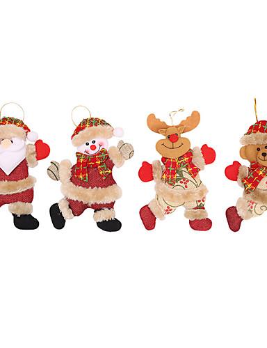 billige Julens andre ornamenter-Feriedekorasjoner Julepynt Julepynt Dekorativ Rød 4stk