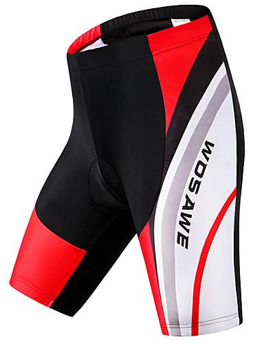 povoljno Odjeća za vožnju biciklom-WOSAWE Muškarci Biciklističke kratke hlače s jastučićima Bicikl Podstavljene kratke hlače Hlače Donji Sportski Poliester Spandex Crveno crno Brdski biciklizam biciklom na cesti Odjeća Napredan