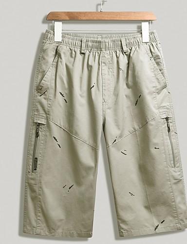 Básico Negro Ejército Shorts Pantalones Verde Estampado Hombre 4qA5RLc3j