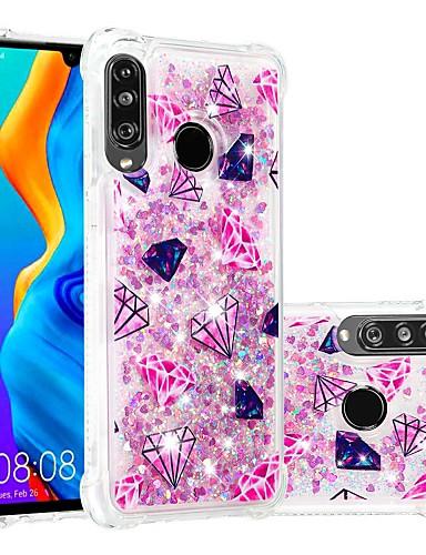 מגן עבור Huawei Huawei P20 / Huawei P20 Pro / Huawei P20 lite עמיד בזעזועים / נוזל זורם / שקוף כיסוי אחורי אנימציה / זוהר ונוצץ רך TPU / P10 Lite