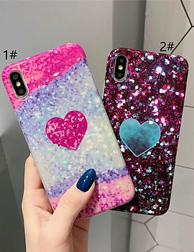 מגן עבור Apple iPhone XS / iPhone XR / iPhone XS Max תבנית / זוהר ונוצץ כיסוי אחורי לב רך TPU