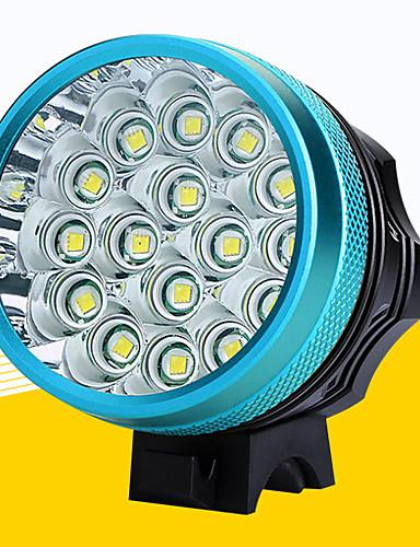 preiswerte Fahrradlichter & Reflektoren-LED Radlichter Fahrradlicht LED Bergradfahren Fahhrad Radsport Wasserfest Super hell Sicherheit Tragbar Wiederaufladbarer Akku 18650 12800 lm Aufladbare Batterien 110-240V 18650 Weiß Camping