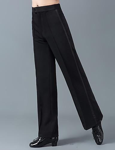 levne Shall We®-Latinské tance Spodní část oděvu Pánské Trénink / Výkon Bavlna / POLY Rozdělení Vysoký Kalhoty