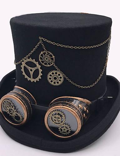 preiswerte Parykopfbedeckungen-Feder / 100% Wolle / Aleación Kopfbedeckung mit Kappe / Kette / Metall 1 Stück Freizeitskleidung / Draussen Kopfschmuck