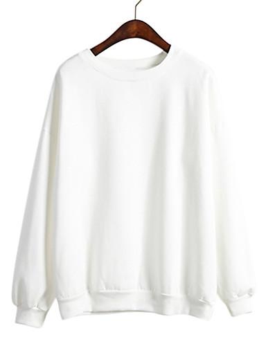 preiswerte Damen Kapuzenpullover & Sweatshirts-Damen Freizeit Pullover Solide