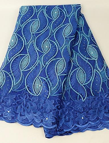preiswerte Fashion Fabric-Afrikanische Spitze Volksstil Muster 130 cm Breite Stoff für Besondere Anlässe verkauft bis zum 5 Yard