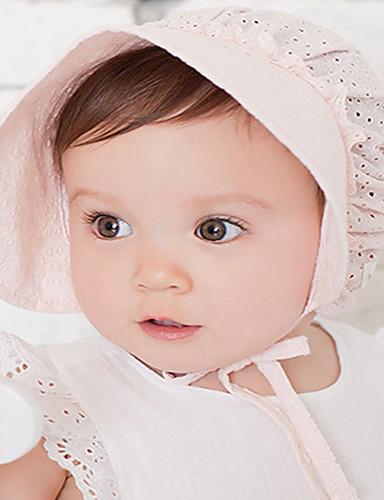 מידה אחת לבן / ורוד מסמיק כובעים ומצחיות כותנה תחרה / מסוגנן אחיד / סרוג וינטאג' / פעיל / בסיסי בנות פעוטות / תינוק