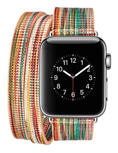 ζώνη smartwatch για ρολόι μήλο σειρά 4/3/2/1 διπλό κύκλο χρώμα προβάτου κλασική πόρπη iwatch λουρί
