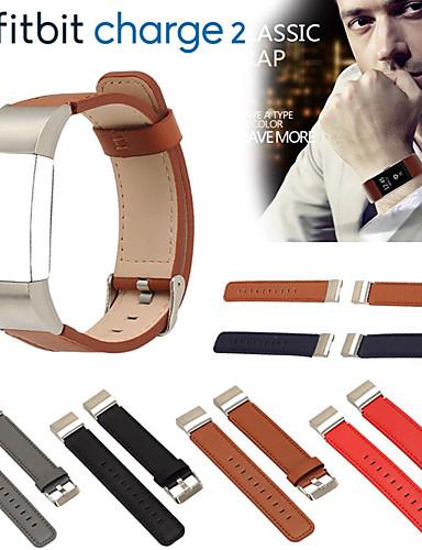 צפו בנד ל Fitbit Charge 2 פיטביט רצועת ספורט עור אמיתי רצועת יד לספורט