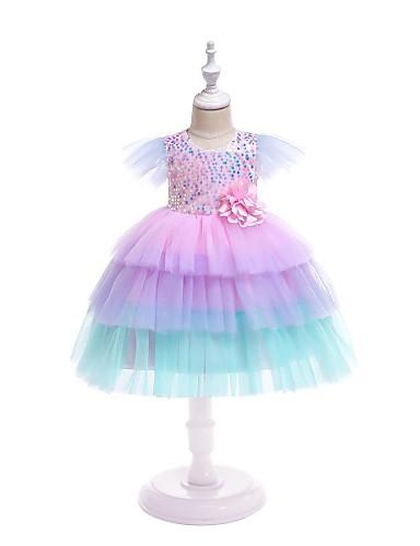 שמלה שרוולים קצרים קשת בנות תִינוֹק