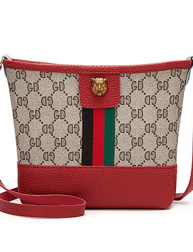 cheap 11.11 - Women's Bags Best Seller-Women's Zipper PU(Polyurethane) / PU Crossbody Bag Black / Blushing Pink / Red / Fall & Winter