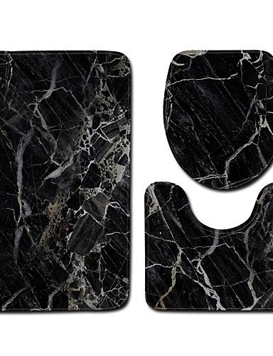 preiswerte Accessoires für das Bad-1 set Klassisch Badvorleger 100g / m2 Polyester gestricktes Stretch Streifen / Neuheit Kreativ / Rutschfest