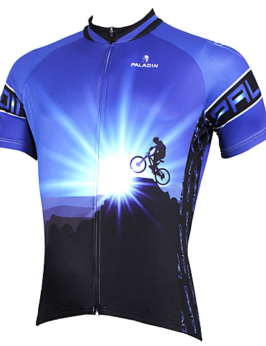 cheap Cycling Clothing-ILPALADINO Men's Short Sleeve Cycling Jersey Purple Blushing Pink Orange Bike Jersey Top Mountain Bike MTB Road Bike Cycling Breathable Quick Dry Ultraviolet Resistant Sports Polyester 100% Polyester
