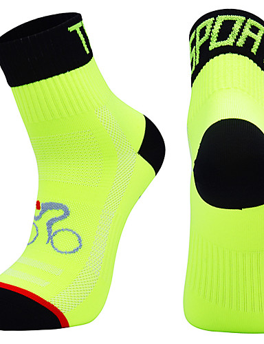 povoljno Biciklističke čarape-Kompresija čarape Sport čarape / atletske čarape Crew Čarape Biciklističke čarape Muškarci Nogomet Biciklizam / Bicikl Bicikl / Biciklizam Prozračnost Podesan za nošenje 1 par Zima Jedna barva Chinlon