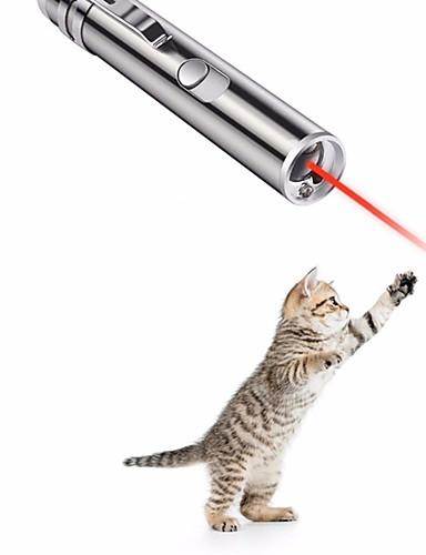 preiswerte Spielzeug & Hobby Artikel-Laser-Spielzeug Interaktives Spielzeug Hunde Katzen Haustiere Spielzeuge 1pc haustierfreundlich Fokus Spielzeug Spritzig Aluminium Geschenk