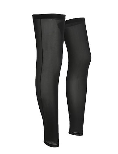 povoljno Odjeća za vožnju biciklom-1 par noga Grijači Mala težina Zaštita od sunca UPF 50 Bicikl Crn Likra za Muškarci Žene Odrasli Cestovni bicikl Mountain Bike Trčanje / UV otporan / Prozračnost / Quick dry / Prozračnost / Quick dry