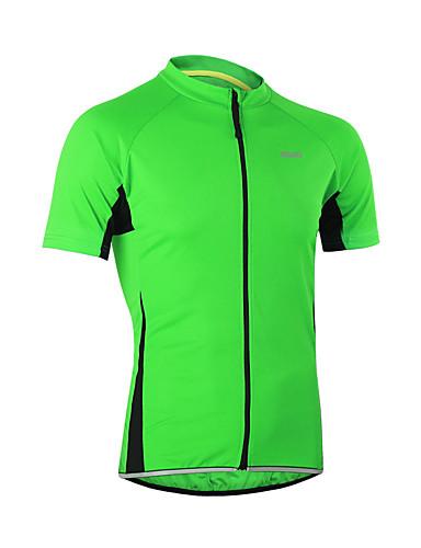 povoljno Odjeća za vožnju biciklom-Arsuxeo Muškarci Kratkih rukava Biciklistička majica Svjetlo žuta Svjetloplav žuta Bicikl Biciklistička majica Majice Brdski biciklizam biciklom na cesti Prozračnost Quick dry Anatomski dizajn