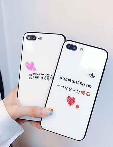 מגן עבור Apple iPhone XS / iPhone XR / iPhone XS Max מראה / תבנית כיסוי אחורי מילה / ביטוי קשיח זכוכית משוריינת
