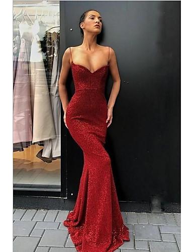 preiswerte Sexy Kleider-Damen Anspruchsvoll Hülle Kleid - Pailletten, Solide Asymmetrisch