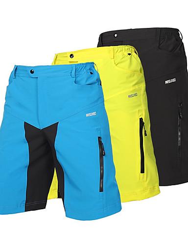 povoljno Odjeća za vožnju biciklom-Arsuxeo Muškarci Kratke hlače za MTB Bicikl Kratke hlače Vrećaste hlače Kratke hlače za MTB Prozračnost Quick dry Anatomski dizajn Sportski Poliester Spandex Crn / Svjetlo žuta / Svjetloplav Brdski