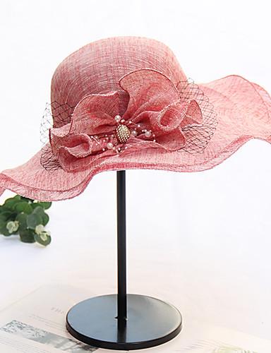 preiswerte Accessoires-Damen Aktiv Grundlegend nette Art,Gitter Sonnenhut Einfarbig Blumenmuster Frühling Sommer Grau Hellgrün Wein