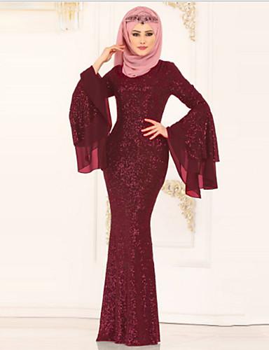 מקסי טלאים, מנוקד - שמלה עבאיה בסיסי בגדי ריקוד נשים