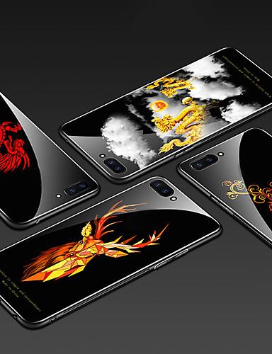 מגן עבור Huawei Huawei Honor 10 תבנית כיסוי אחורי חיה קשיח זכוכית משוריינת