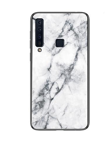מגן עבור Samsung Galaxy Galaxy A7(2018) / A9 Star / A8 2018 תבנית כיסוי אחורי אחיד קשיח זכוכית משוריינת