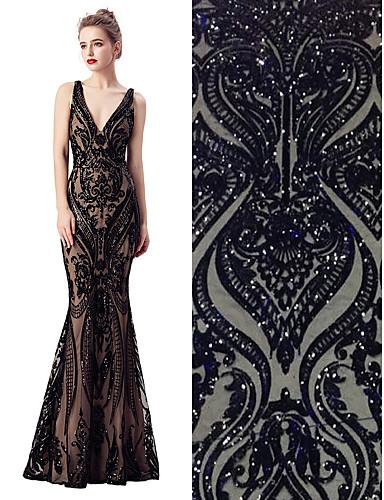 preiswerte Fashion Fabric-Spitze einfarbig Muster 130-140 cm Breite Stoff für Brautkleidung verkauft bis zum 5 Yard