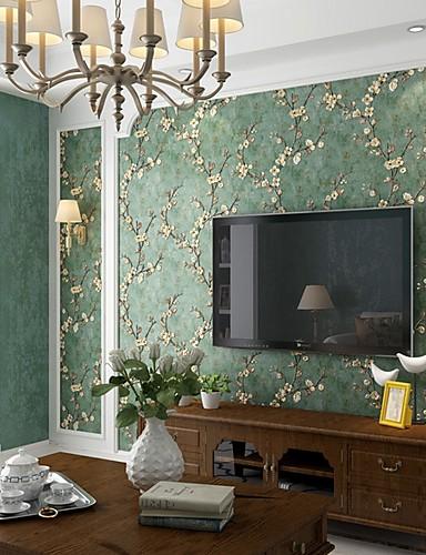 preiswerte Tapete-Tapete Nicht gewebt Wandverkleidung - Klebstoff erforderlich Blumen / Pflanzen