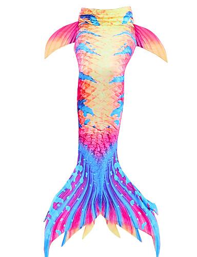 cheap Swimming Cosplay-The Little Mermaid Mermaid Tail Swimwear Kids Girls' New Year Festival / Holiday Polyster Red / White / Purple / Blue / Yellow Carnival Costumes Mermaid / Mermaid Fishtail / Mermaid Fishtail