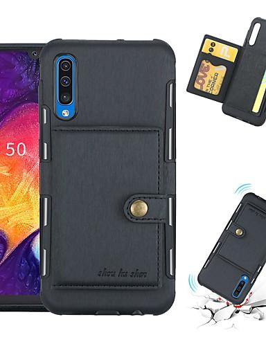 מגן עבור Samsung Galaxy Galaxy A30 (2019) / Galaxy A50 (2019) מחזיק כרטיסים / עמיד בזעזועים כיסוי אחורי אחיד רך TPU