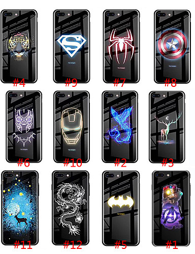 14 99 Case For Apple Iphone Xs Max Iphone 8 Plus Glow In The Dark Back Cover Tile Hard Tempered Glass Tpu For Iphone 7 7 Plus 8 6 6 Plus